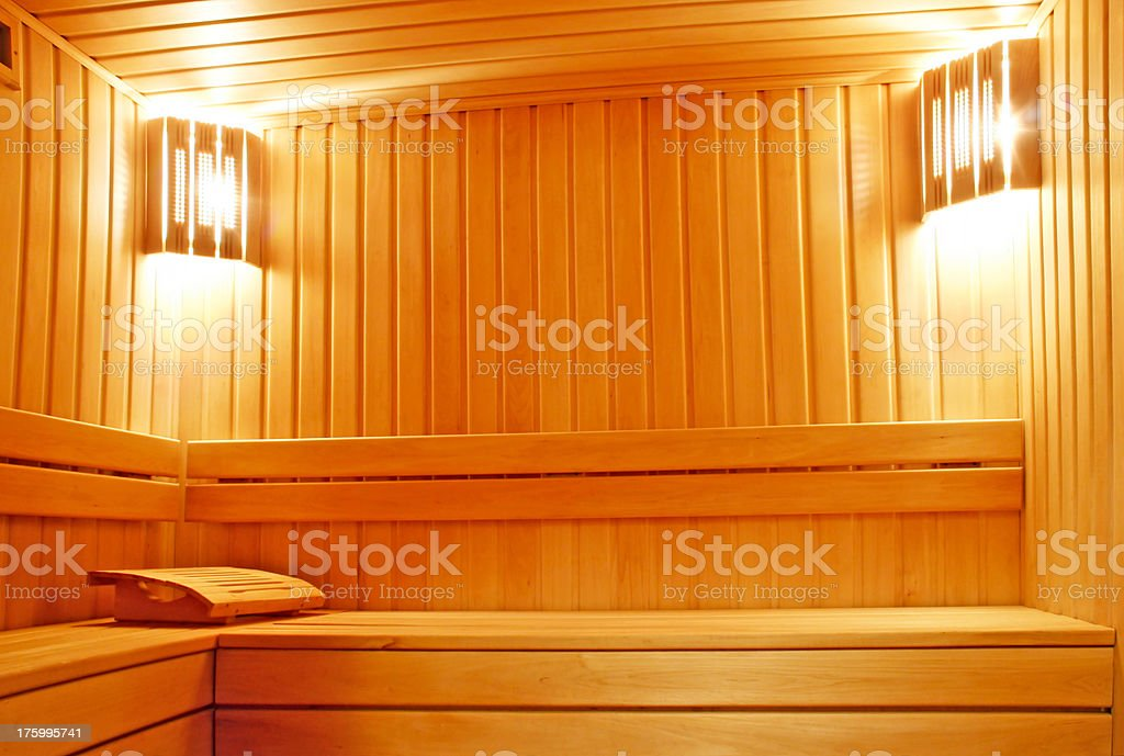 Cozy sauna royalty-free stock photo