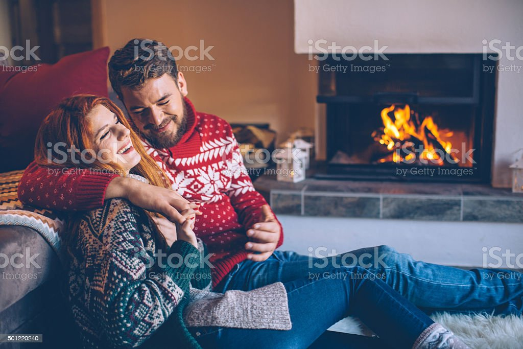 Cozy winter holidays. stock photo