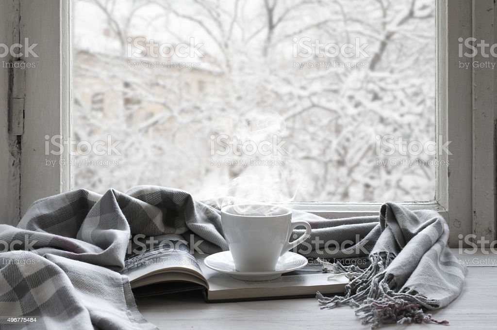 Cozy winter still life stock photo