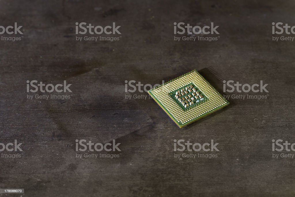 cpu with pins up royalty-free stock photo