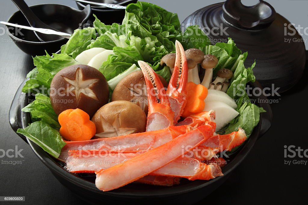 Crab and Vegetable Hot Pot stock photo