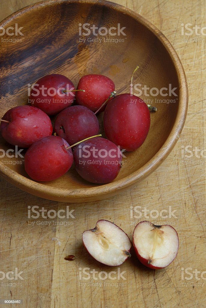 Crab apples in bowl royalty-free stock photo