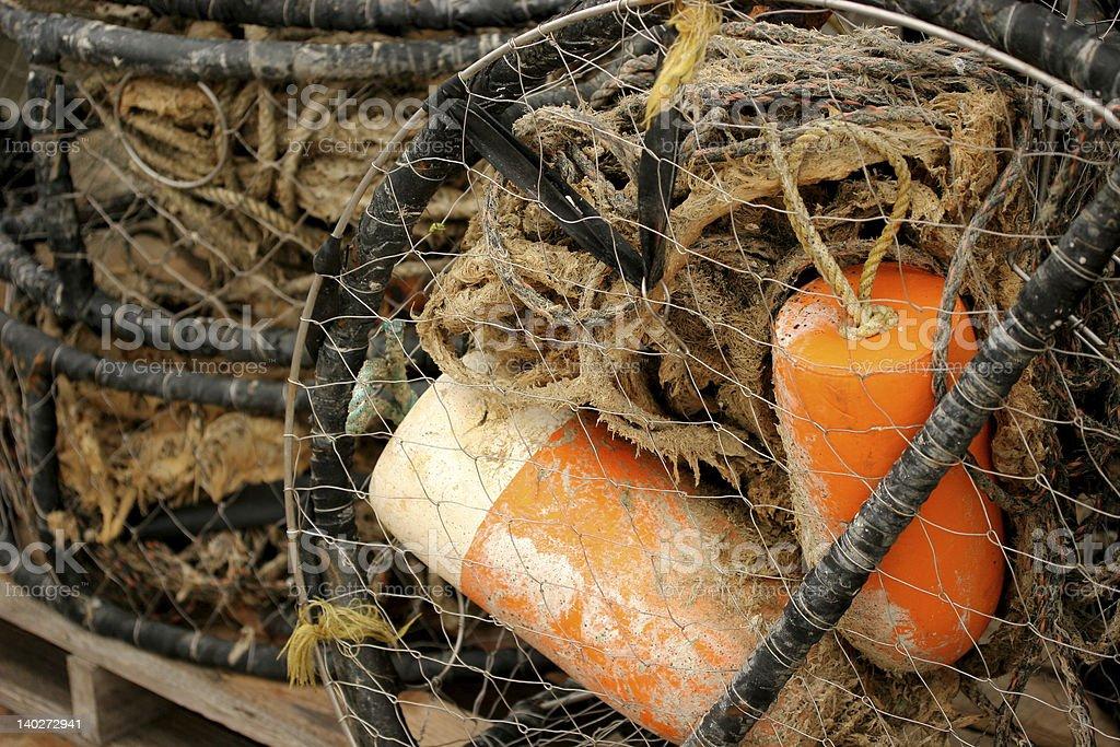 crab basket stock photo