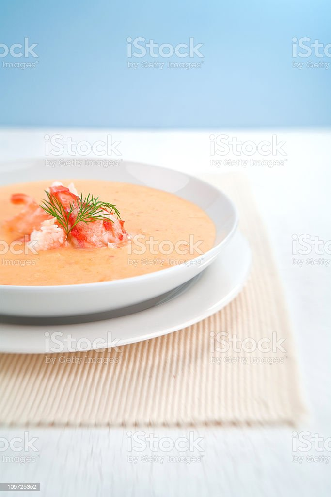 Crab Bisque stock photo
