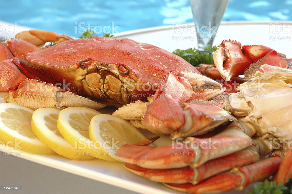 Crab by Pool stock photo