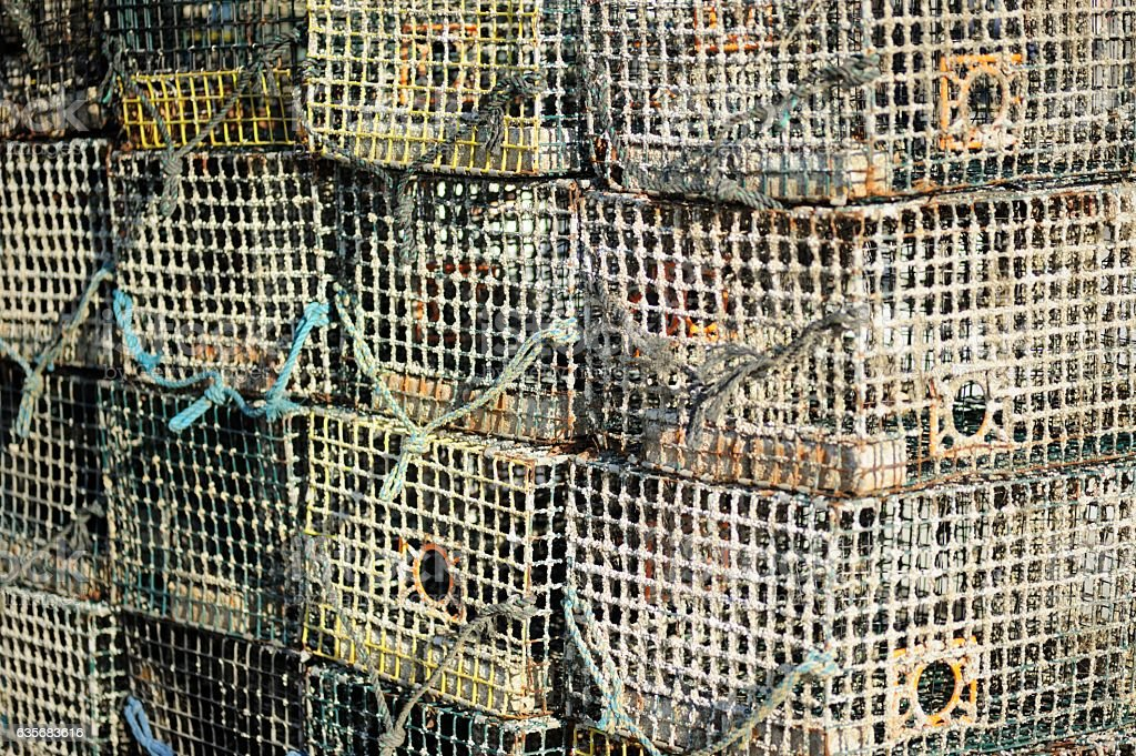 Crab cages stock photo