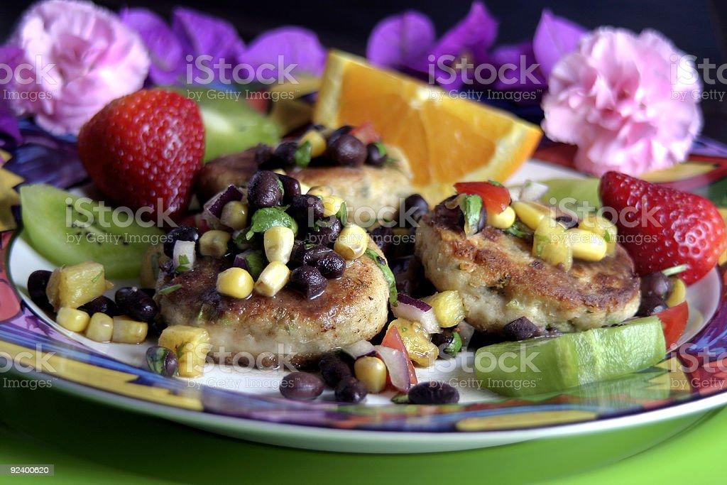 Crab Cake Dinner royalty-free stock photo