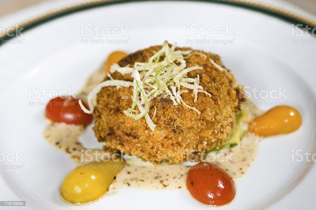 Crab Cake royalty-free stock photo