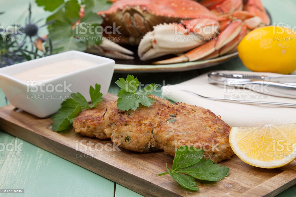 Crab Cakes Appetizer stock photo