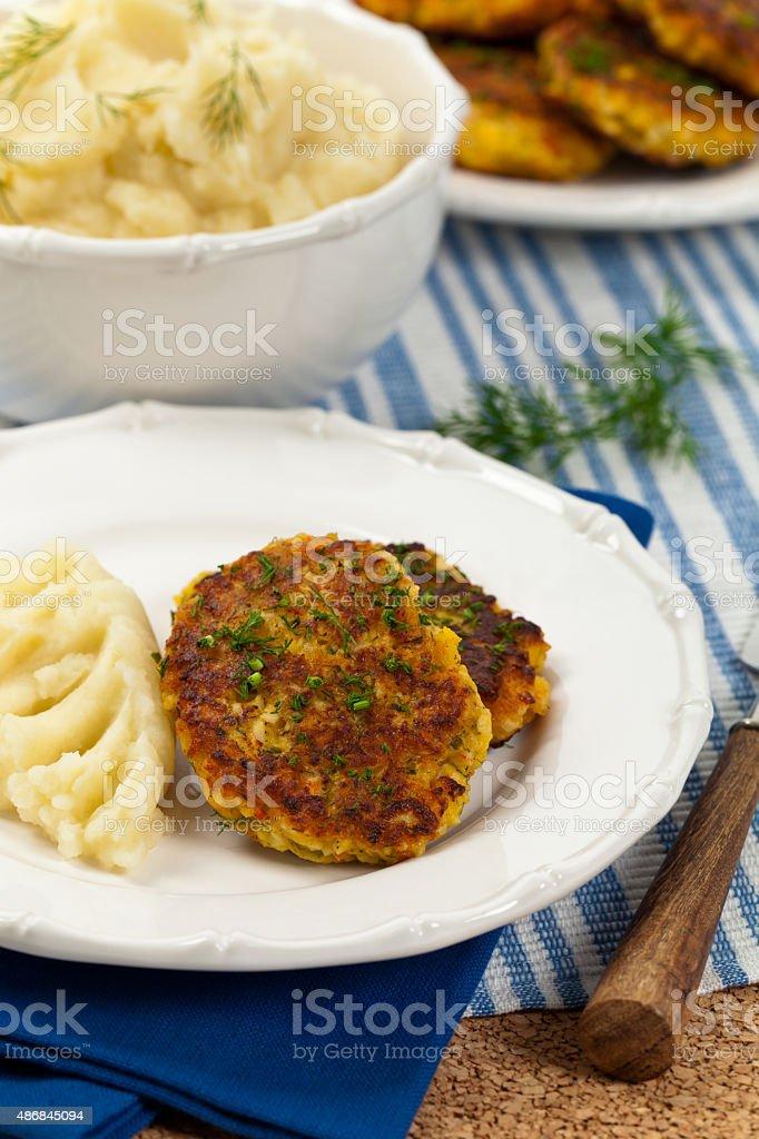 Crab Cakes stock photo