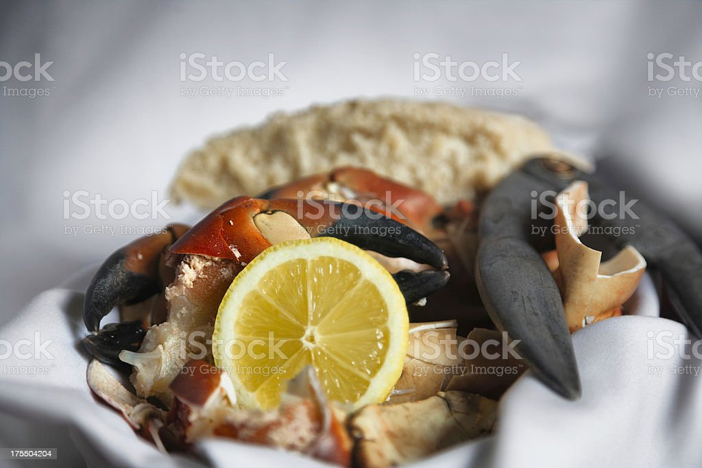Crab claws - ready to eat stock photo