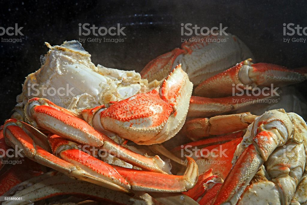 Crab clusters stock photo
