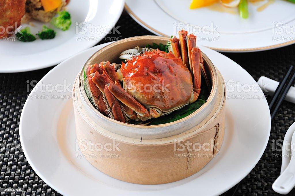 Crab  dish. crabs cuisine. stock photo