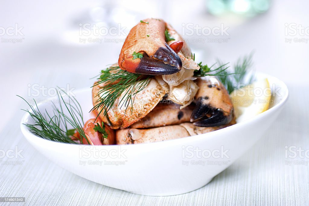 Crab Dish stock photo