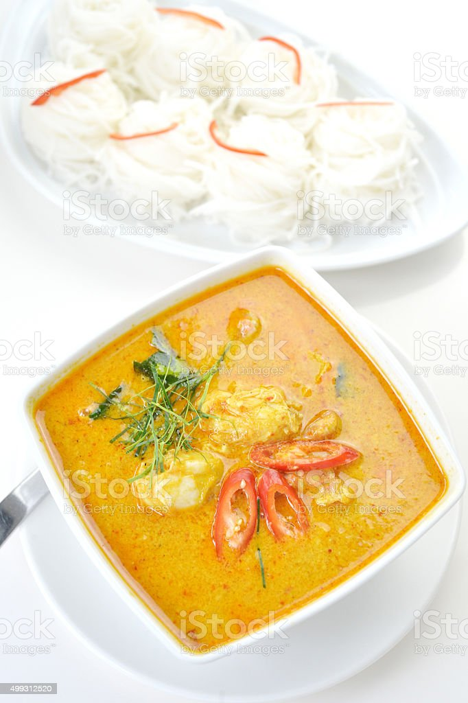 Crab meat curry stock photo