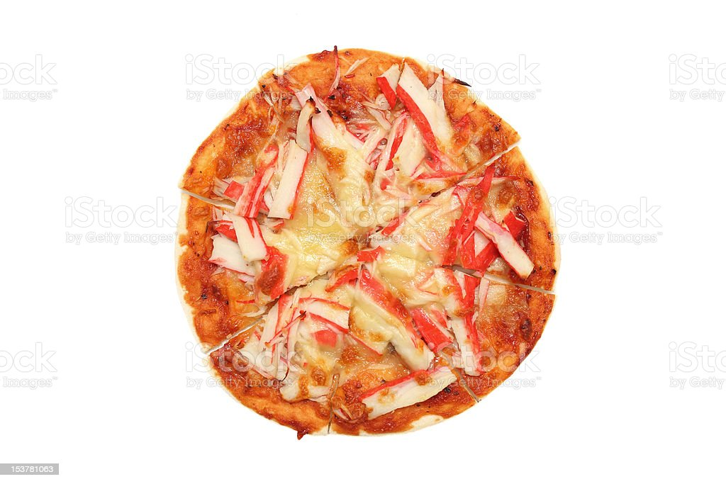 Crab Meat Pizza royalty-free stock photo