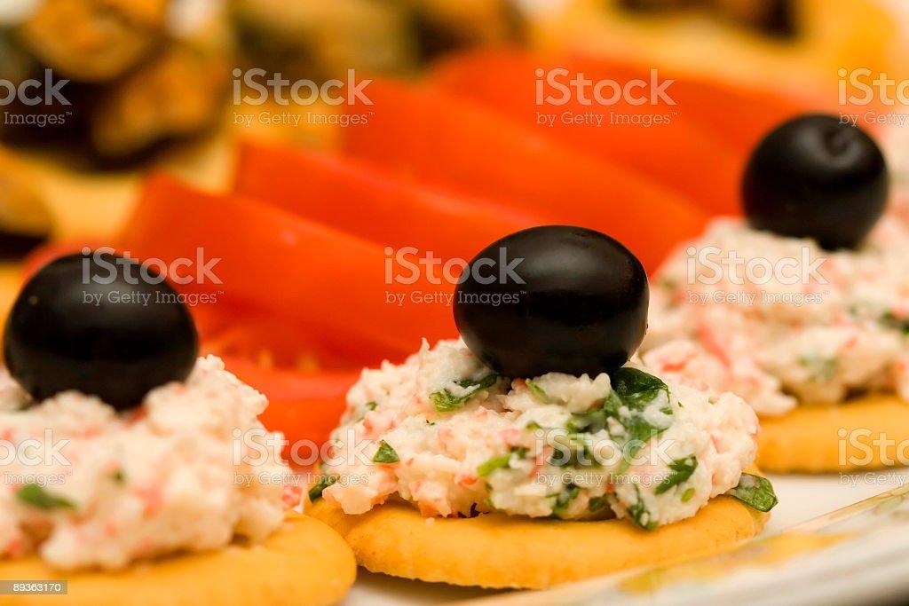 Crab Mix Crackers (Macro) stock photo