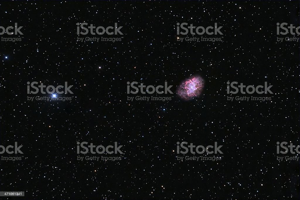 Crab nebula stock photo