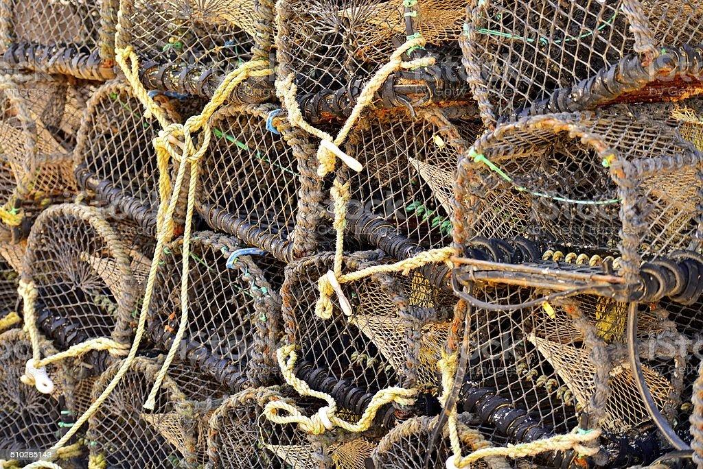 Crab Nets stock photo