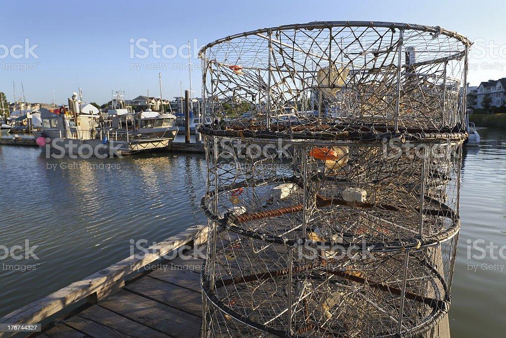 Crab Pots on the Dock, Steveston royalty-free stock photo