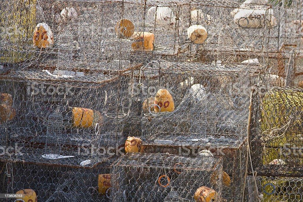 crab pots stock photo