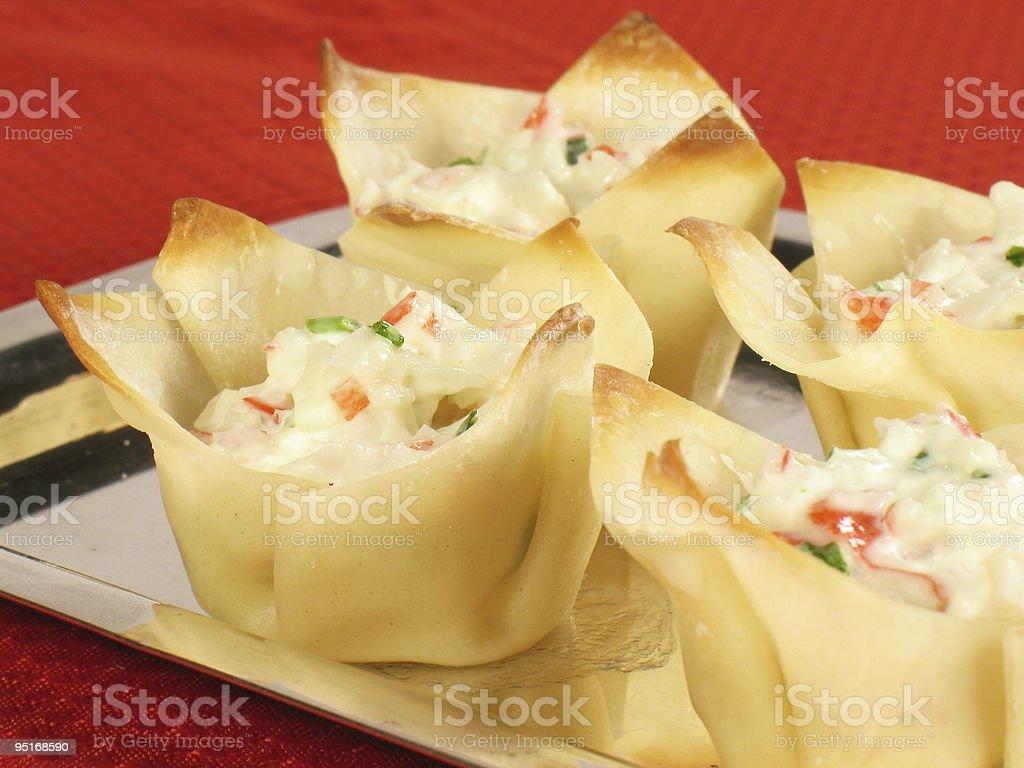 Crab Rangoon Platter stock photo