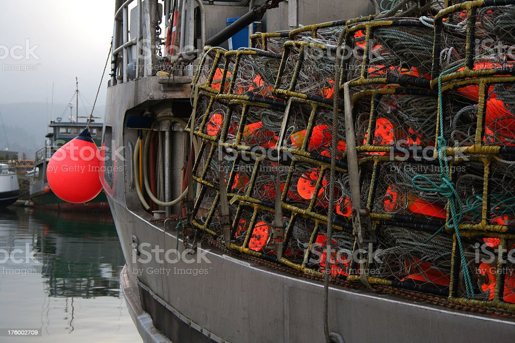 Crab Rigging royalty-free stock photo