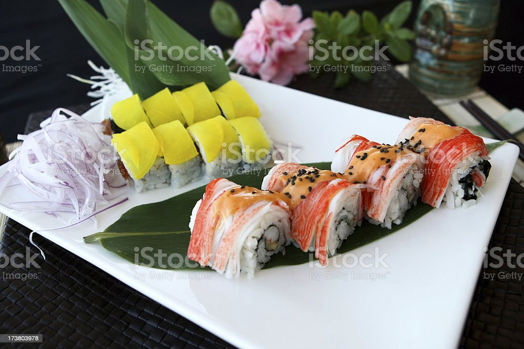 Crab roll royalty-free stock photo