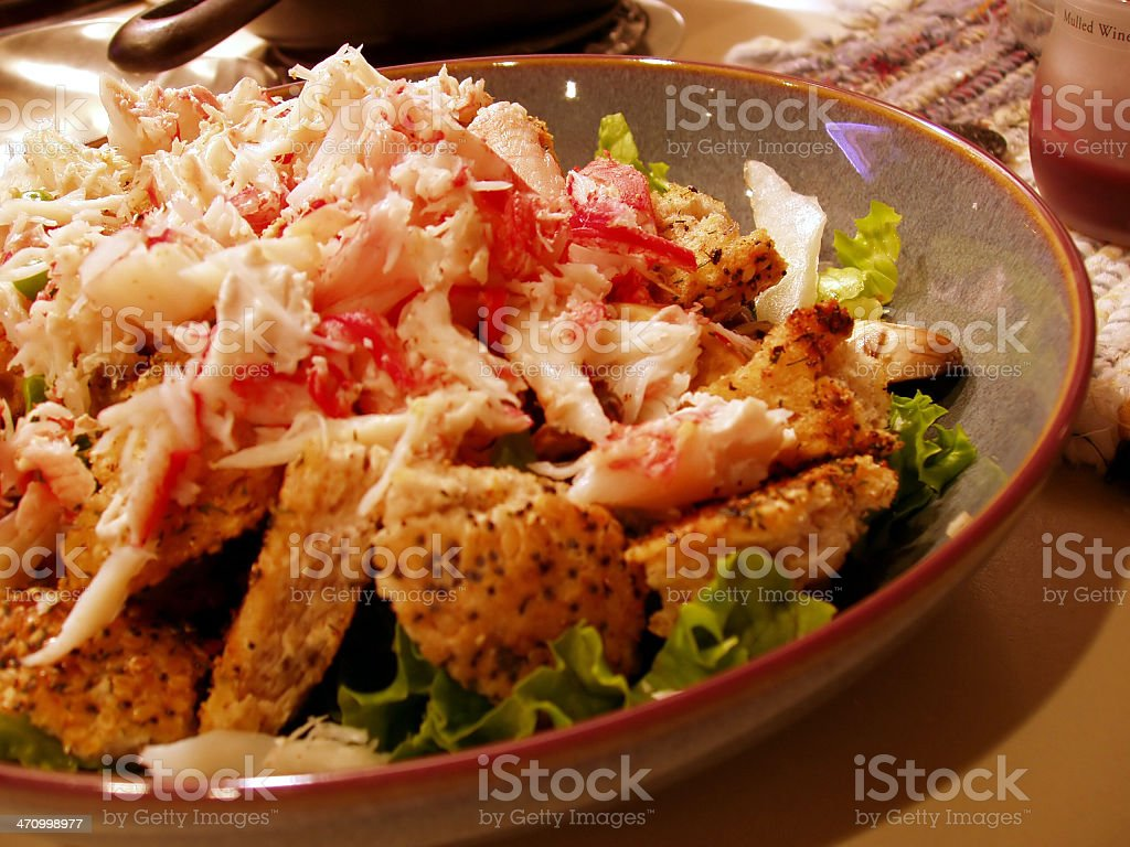 Crab Salad - Gourmet Food stock photo