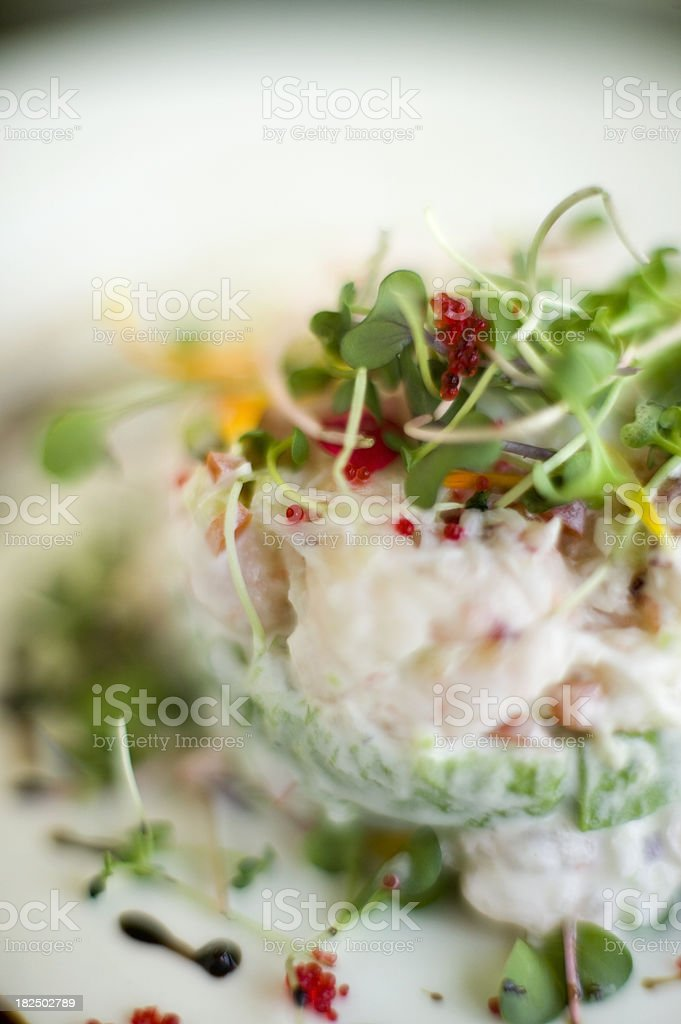 crab salad royalty-free stock photo