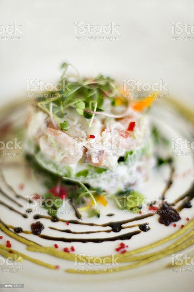 crab salad royalty-free stock photo