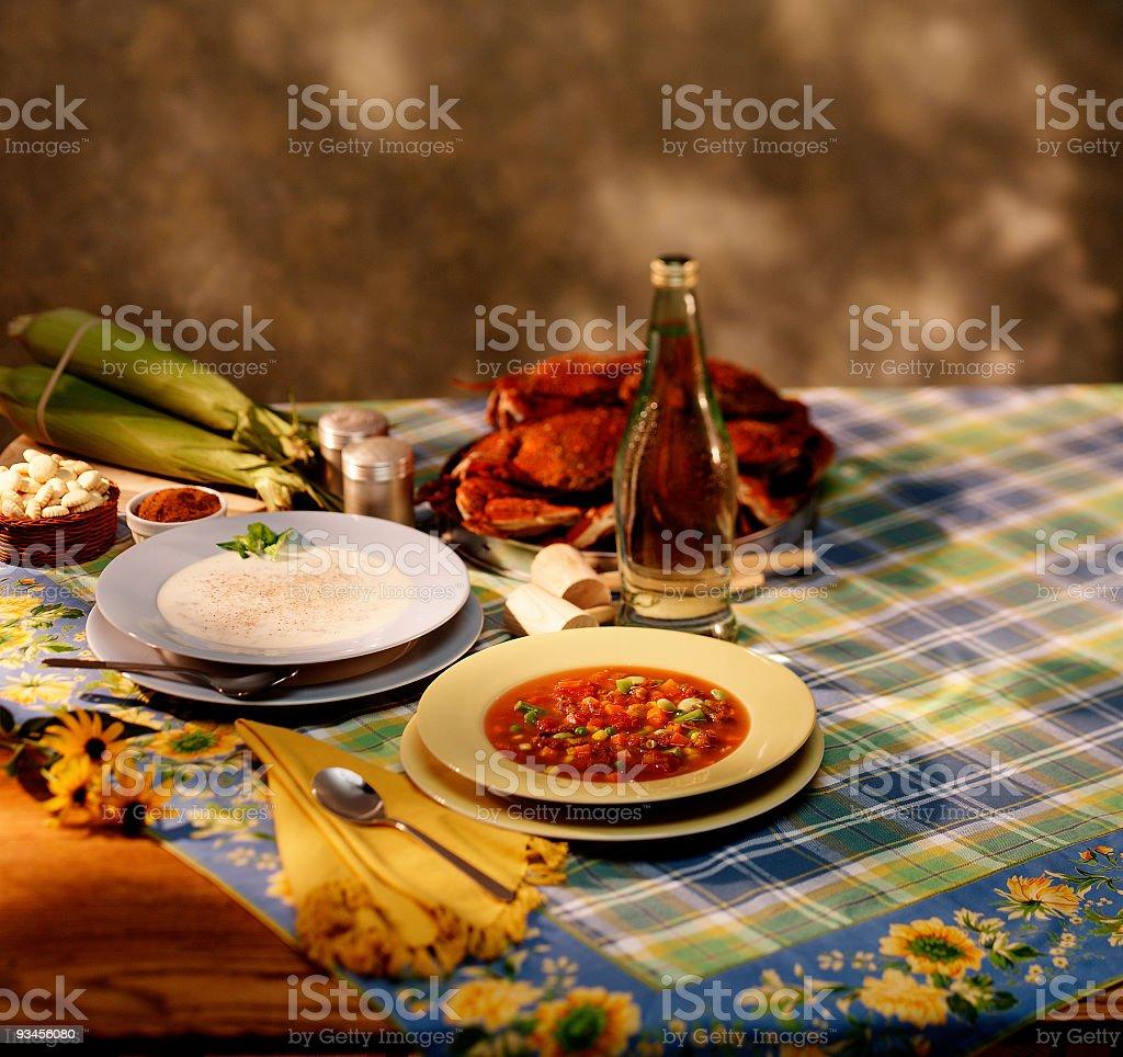 Crab Soups stock photo