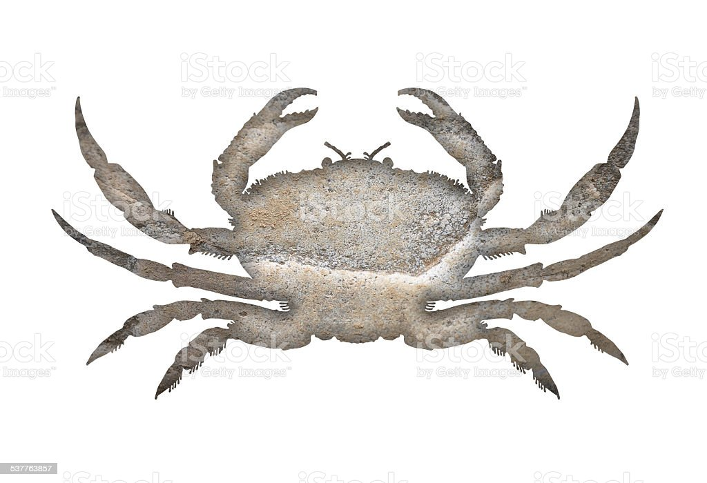 Crab stone vector art illustration
