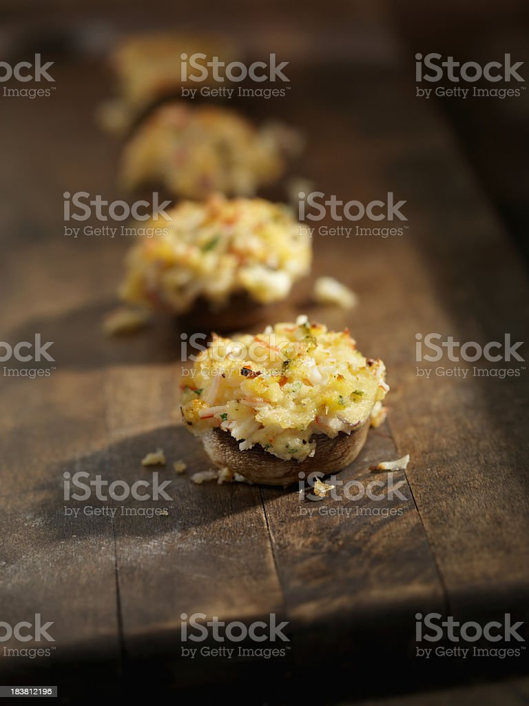 Crab Stuffed Mushroom Caps stock photo