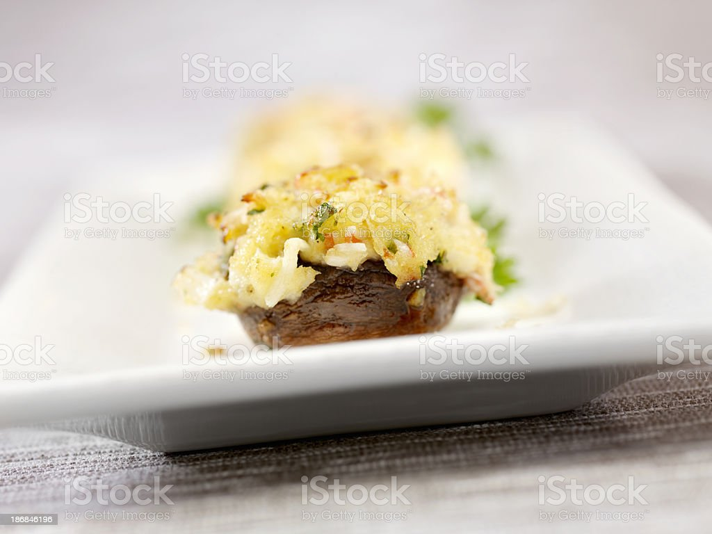 Crab Stuffed Mushroom Caps royalty-free stock photo