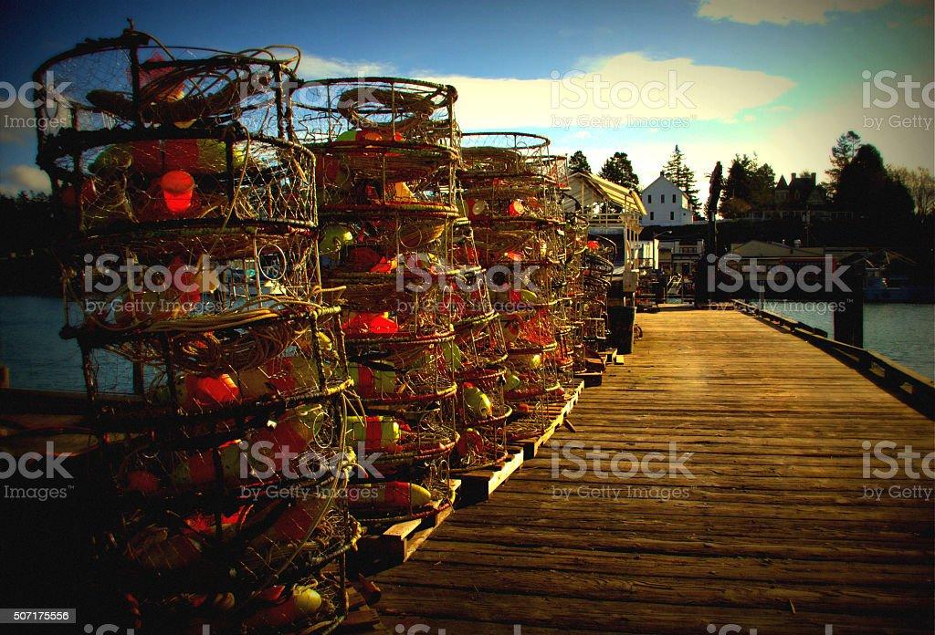 Crab trab in La Conner,WA stock photo