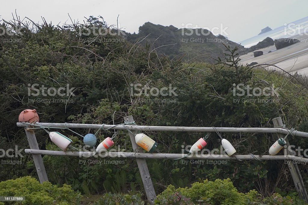 Crab Trap Floats stock photo