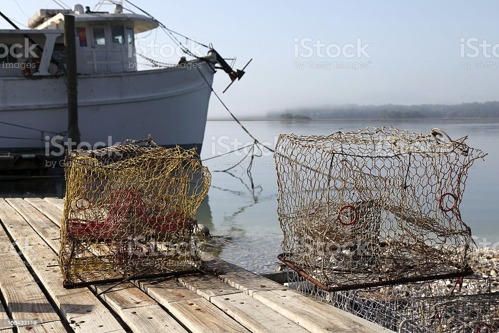 Crab Traps stock photo
