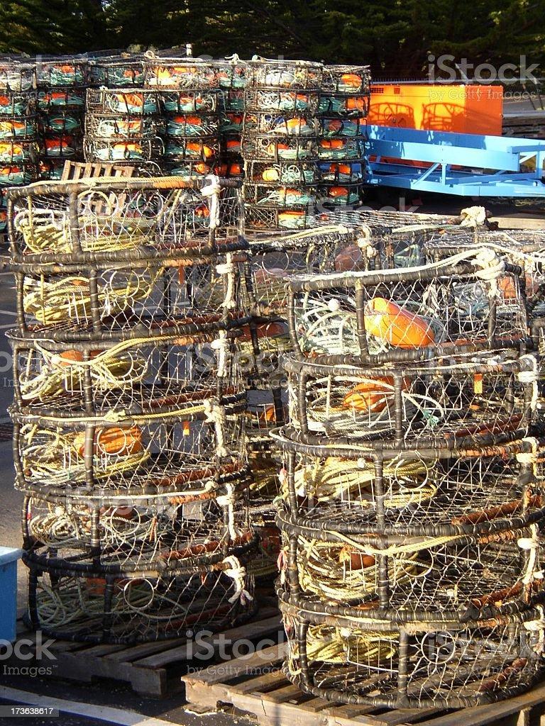 crab traps #1 stock photo