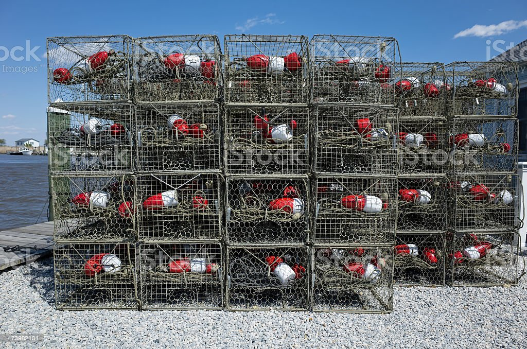 Crab Traps stock photo