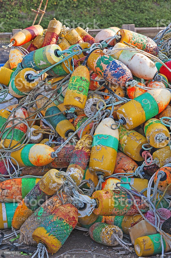 Crabbing floats stock photo