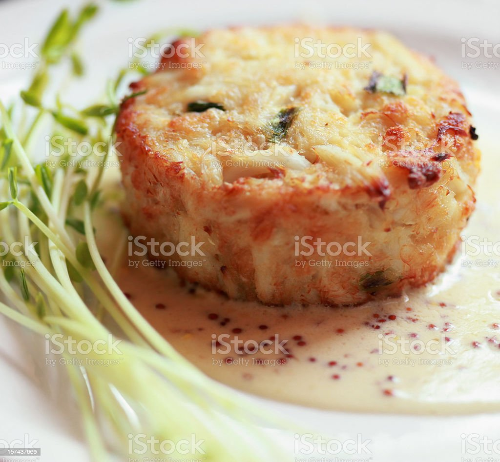 Crabcake stock photo