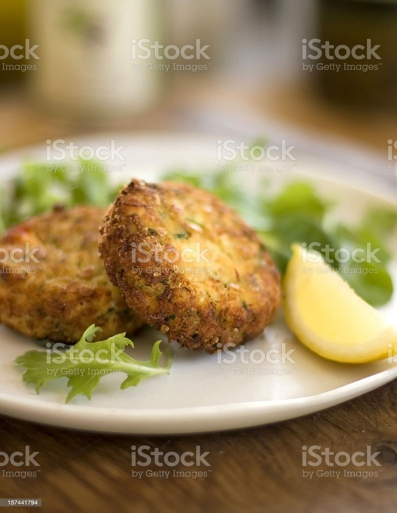 Crabcakes stock photo