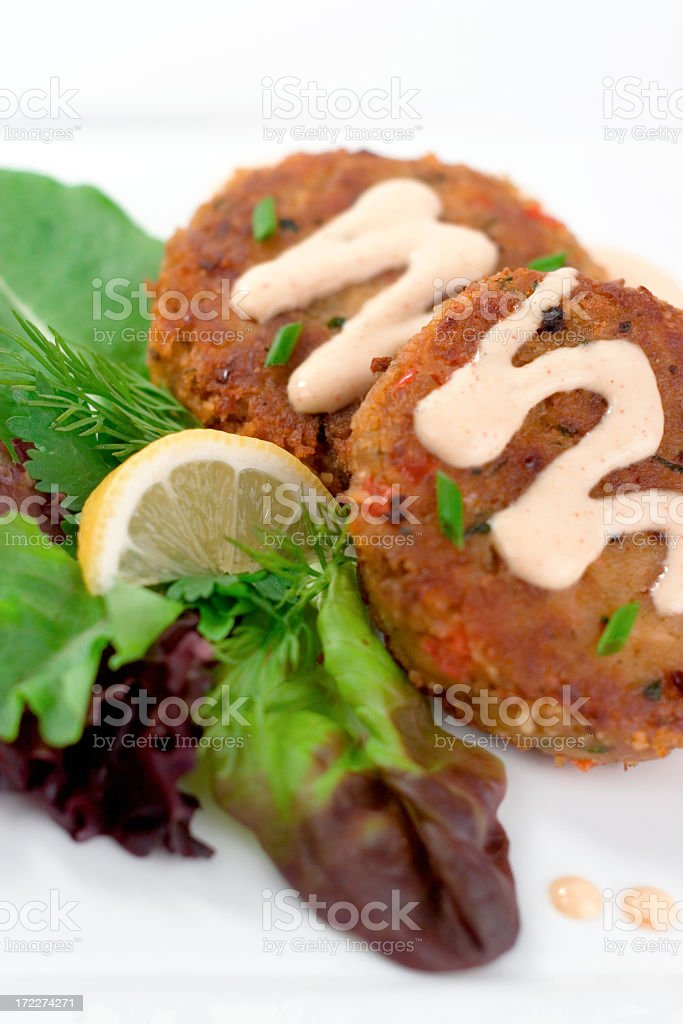 Crabcakes royalty-free stock photo