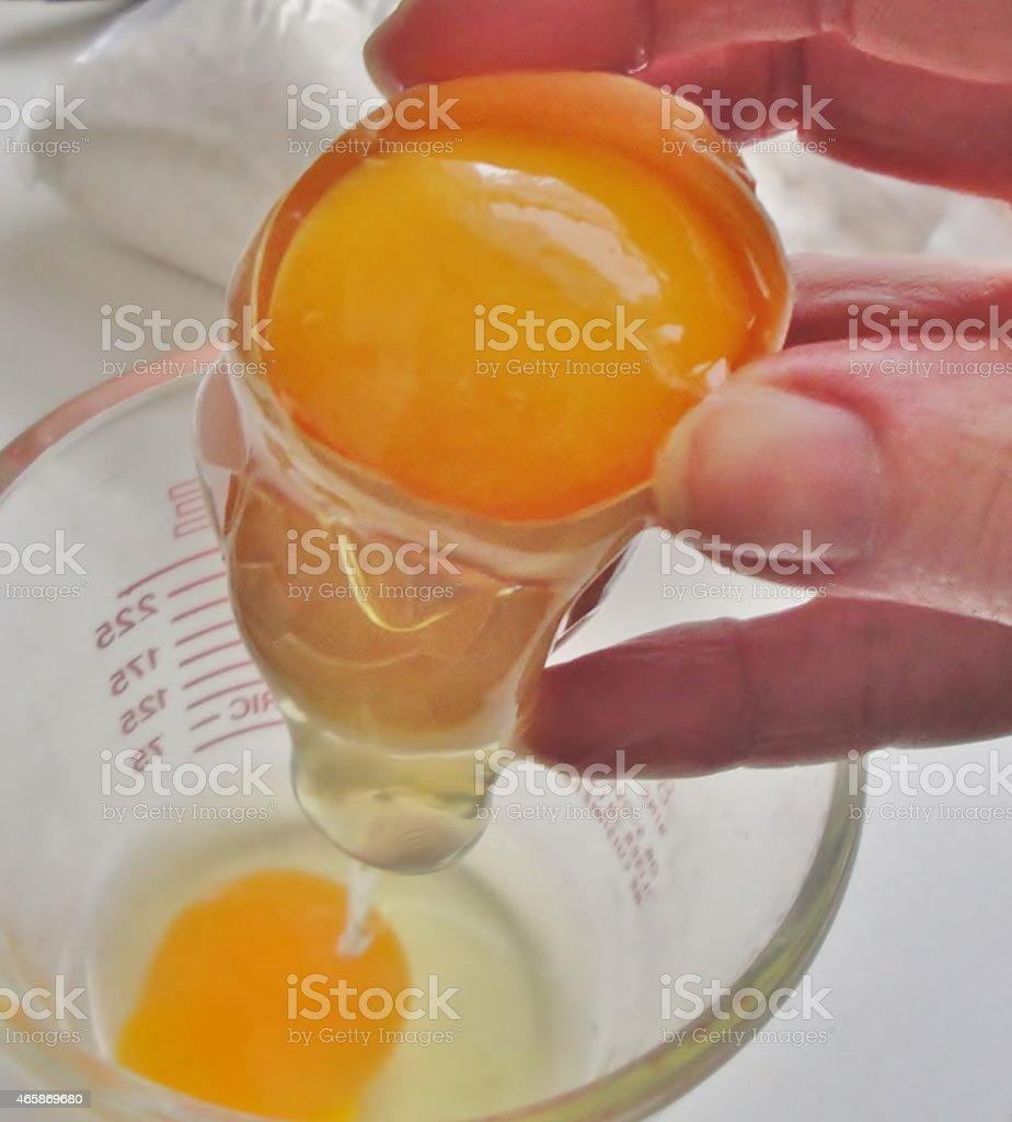 Crack an Egg stock photo