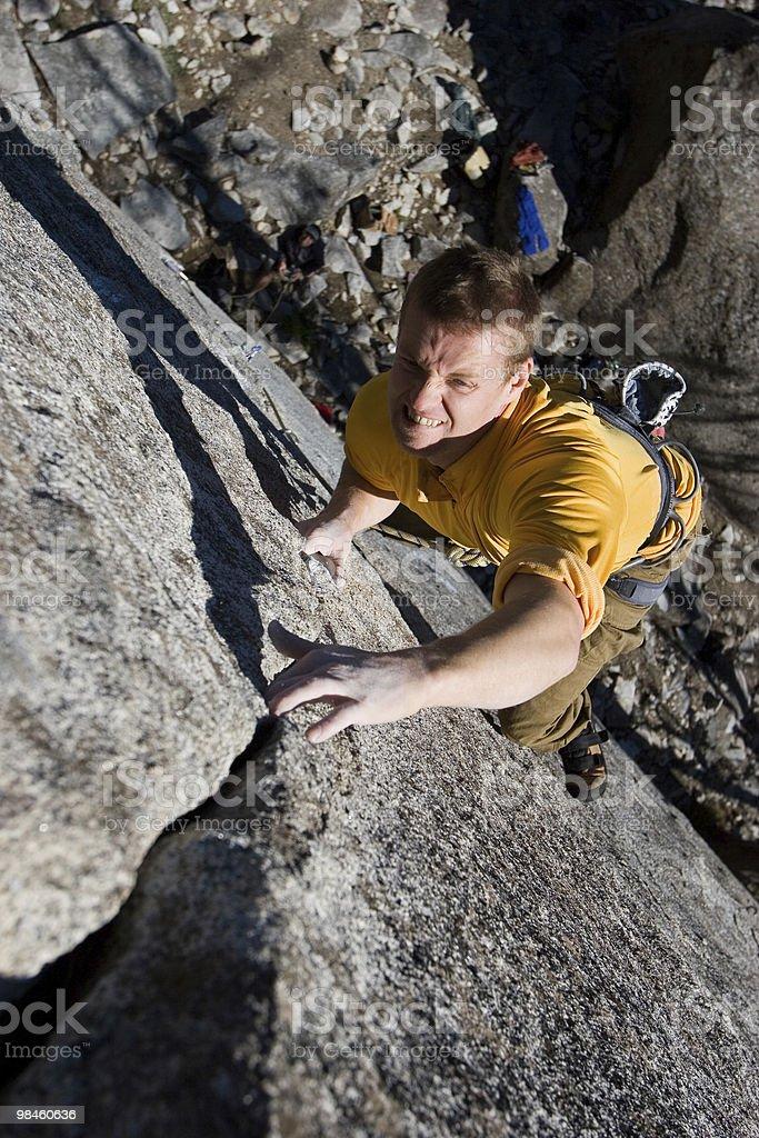 Crack Climbing royalty-free stock photo