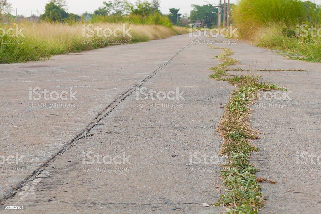 crack concrete road stock photo