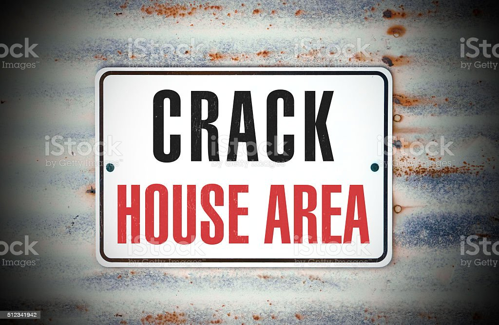 Crack House Area stock photo