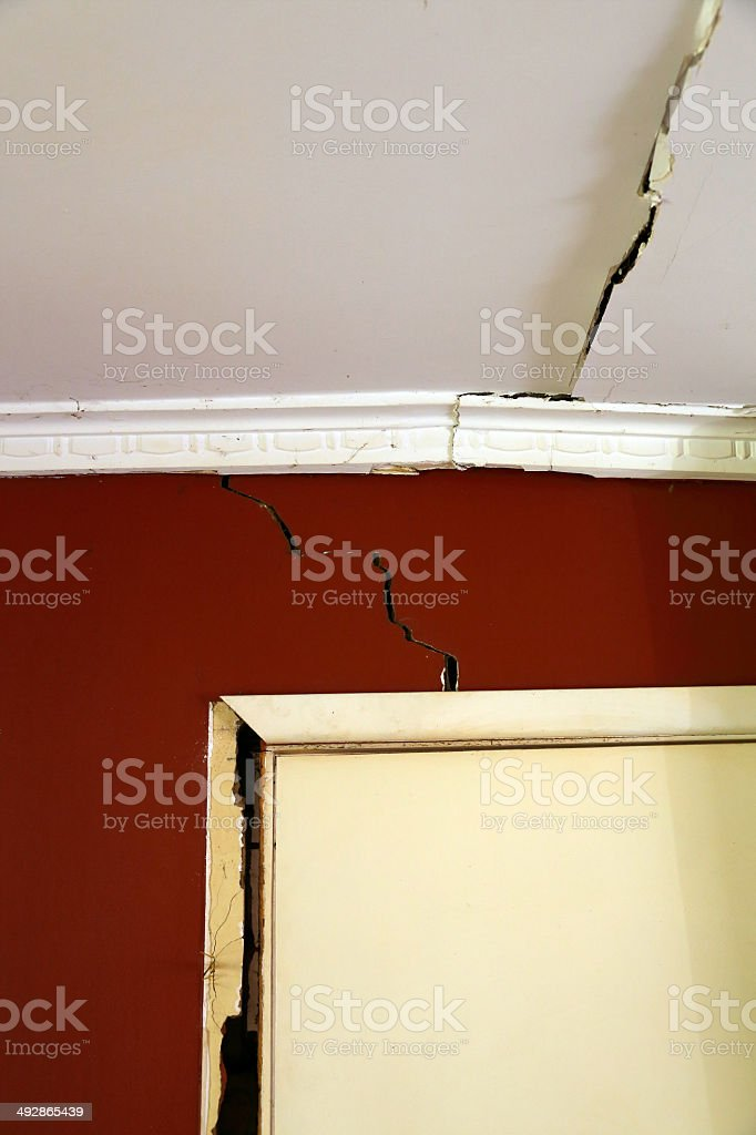 Crack in a Wall stock photo