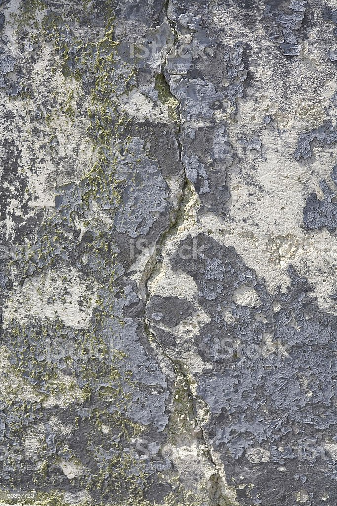 crack in old concrete royalty-free stock photo